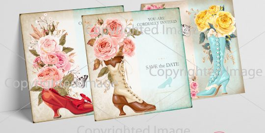 Vintage wedding Invitations printable DIY party A la Marie Antoinette Ephemera