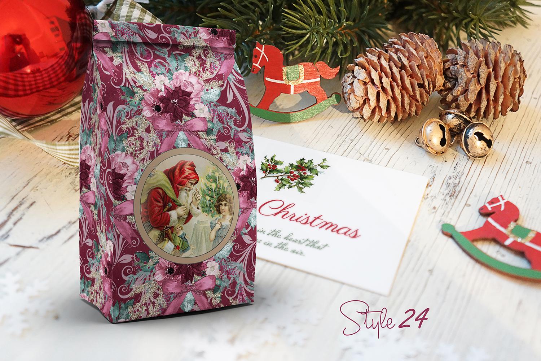 DIY Vintage Printable Christmas 6 Bag Set