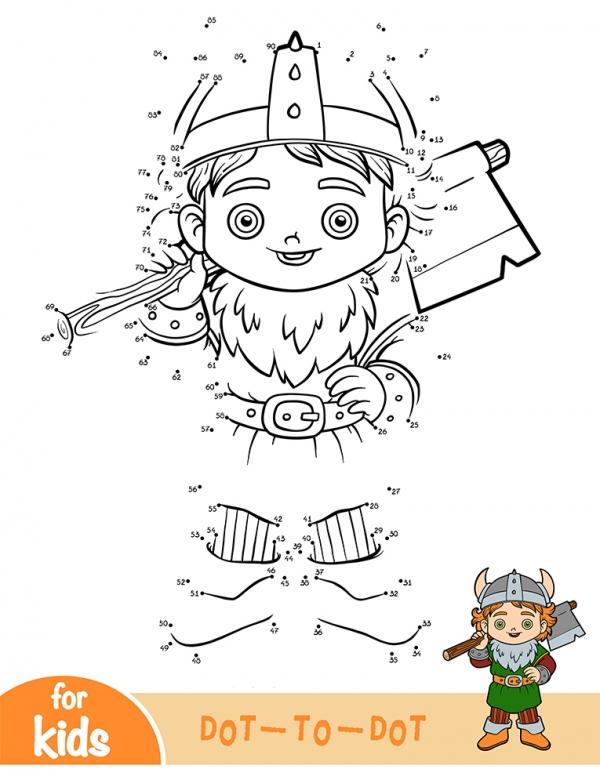 Viking boy with an ax