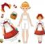 Paper Doll Girl Set no 3