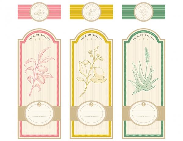 Vintage Herbal labels template #1