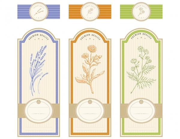 Vintage Herbal labels template #2