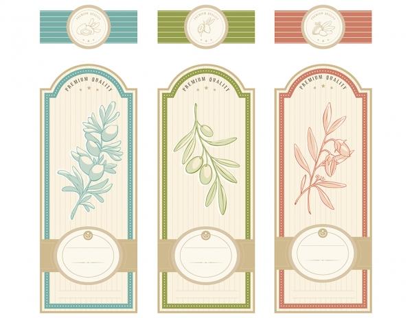 Vintage Herbal labels template #3