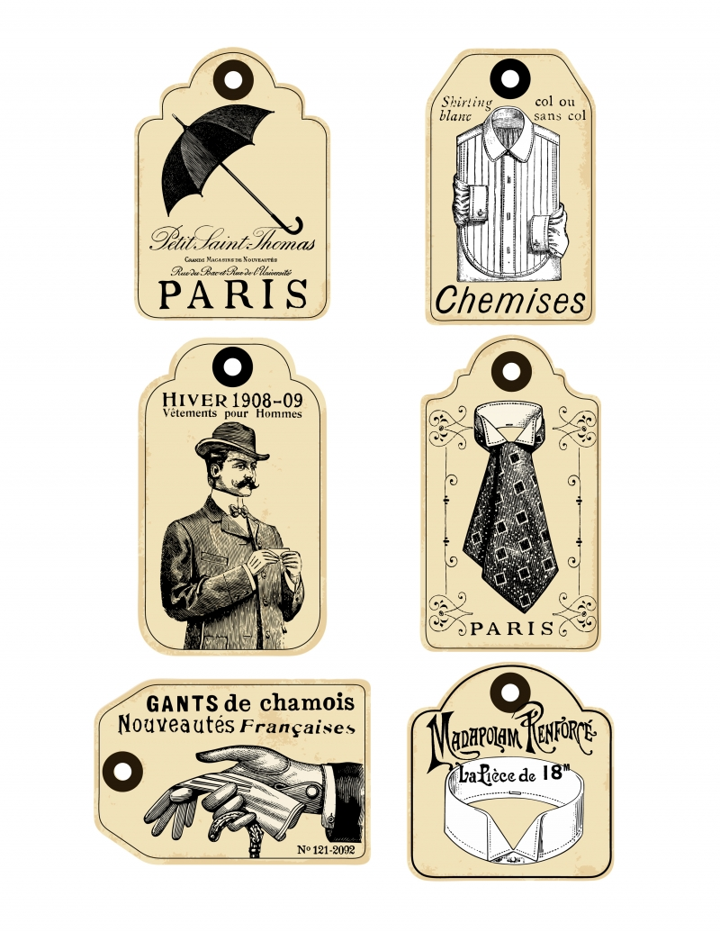 French Retro Labels for Men Vol 1