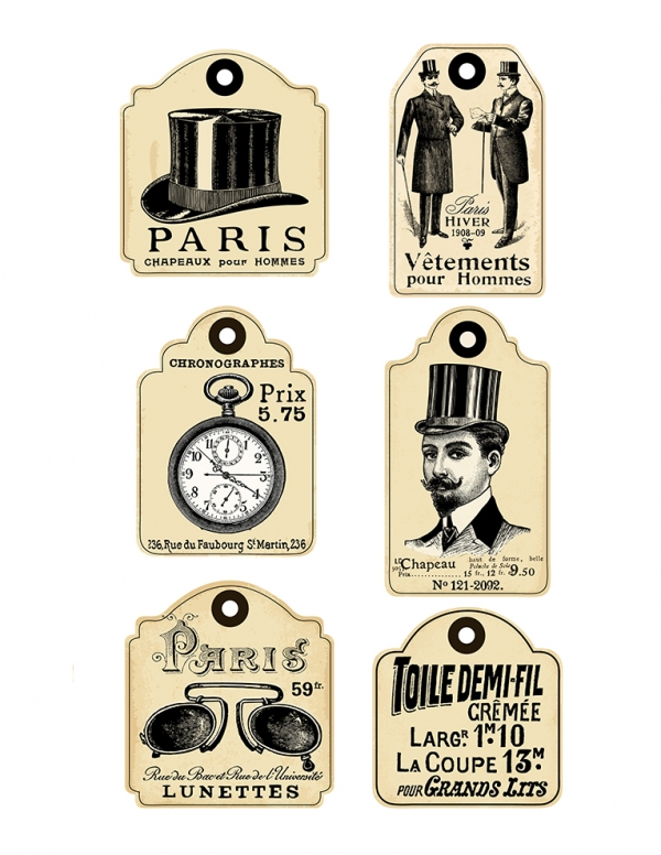 French Retro Labels for Men Vol 2