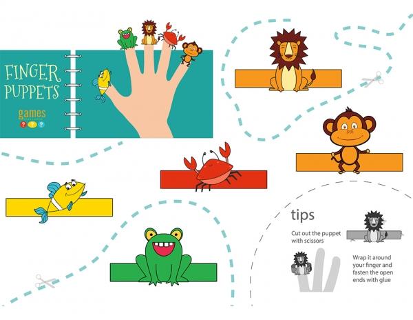 5 finger puppet B