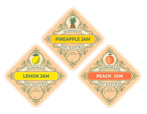 Vintage Jam Labels Set