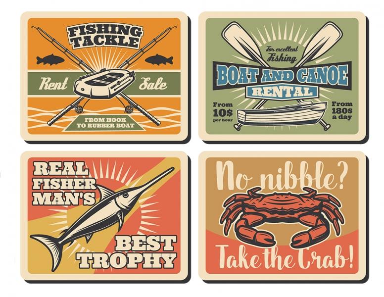 Printable Scrapbooking Fishing Embellishments