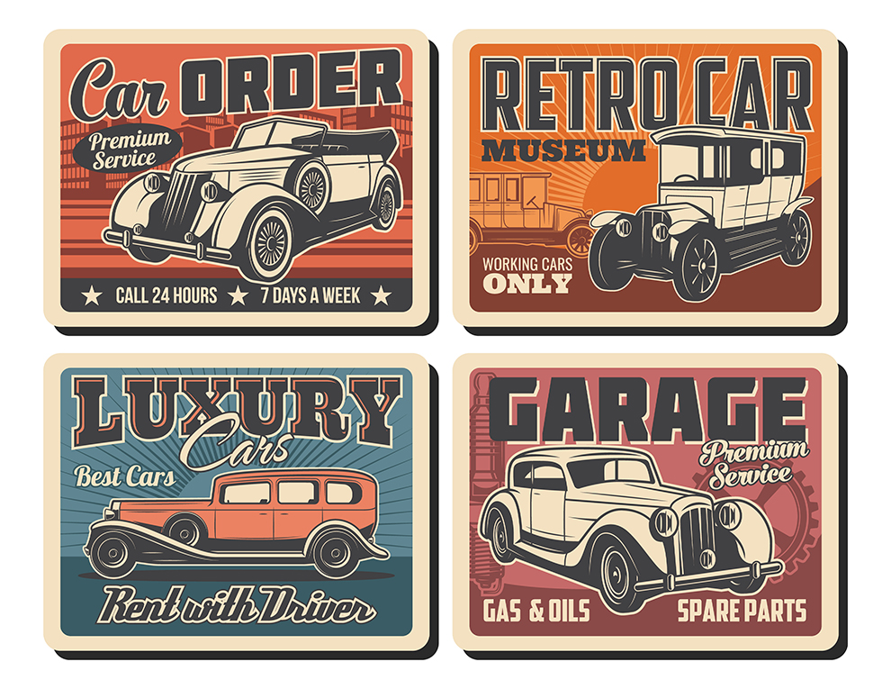 Vintage Car Embellishments #1