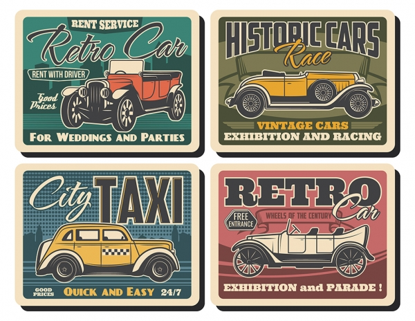Printable Scrapbooking Vintage Car Embellishments #2