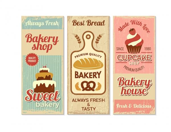 Printable Scrapbooking Vintage Bakery Large Embellishments