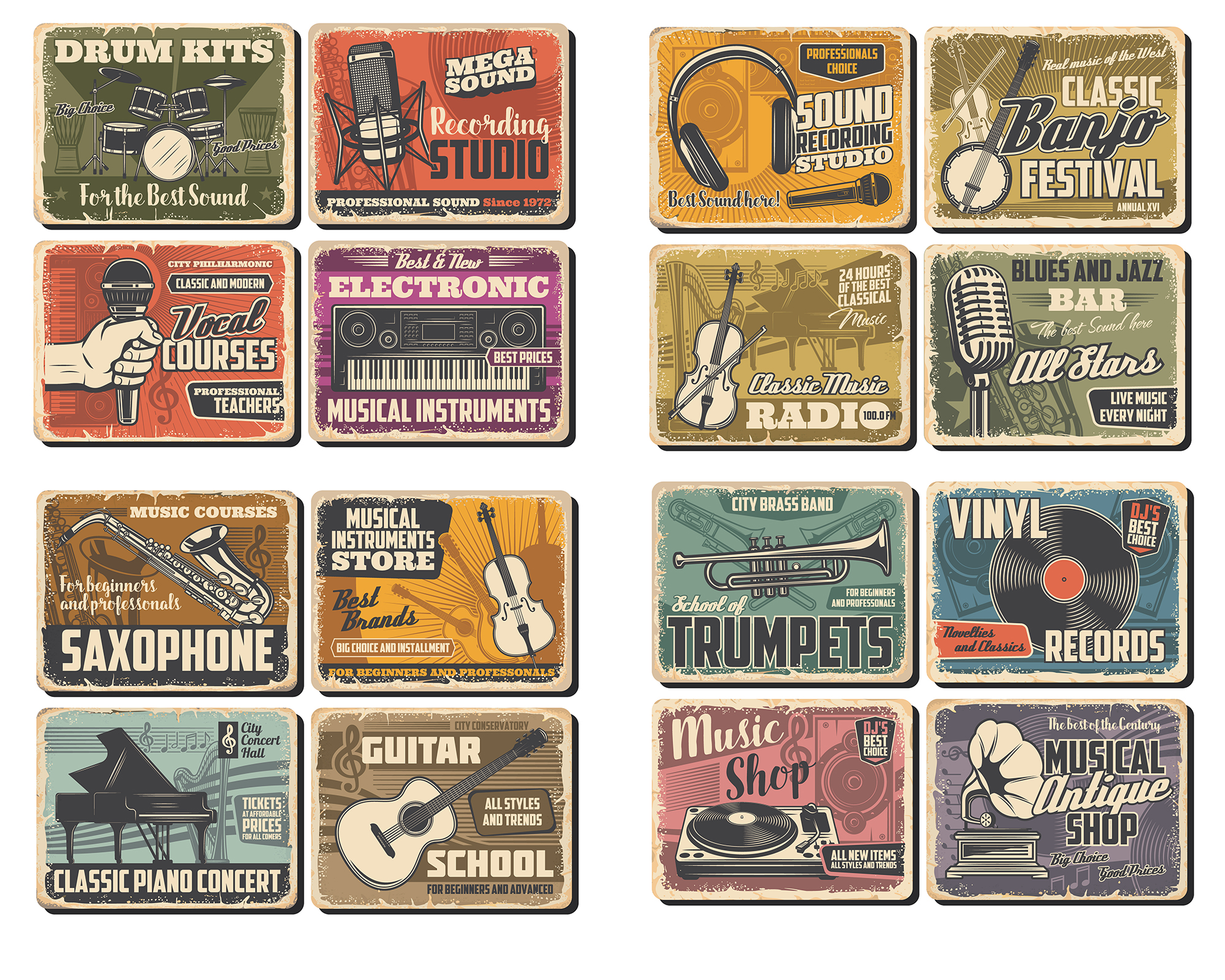 Printable Scrapbooking Vintage Music Embellishments