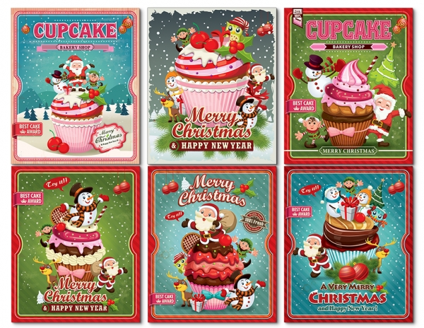 Christmas large journaling cards