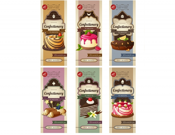 Vintage Sweets Labels Set 1