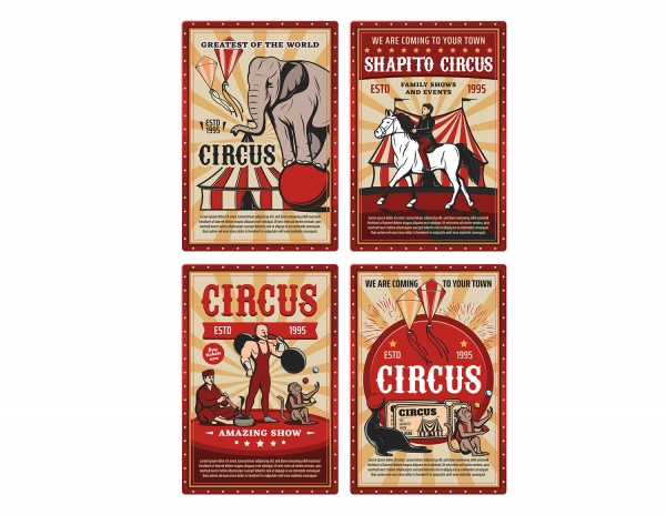 Printable Scrapbooking Vintage Circus Embellishments