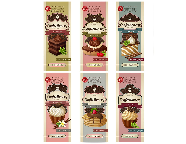 Vintage Sweets Labels Set 2