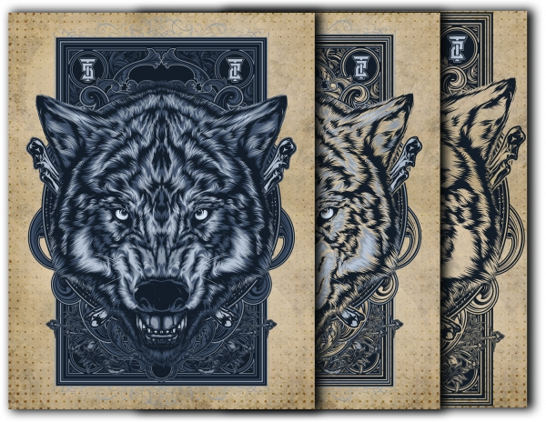 Book of Shadows Front cover- Wolf