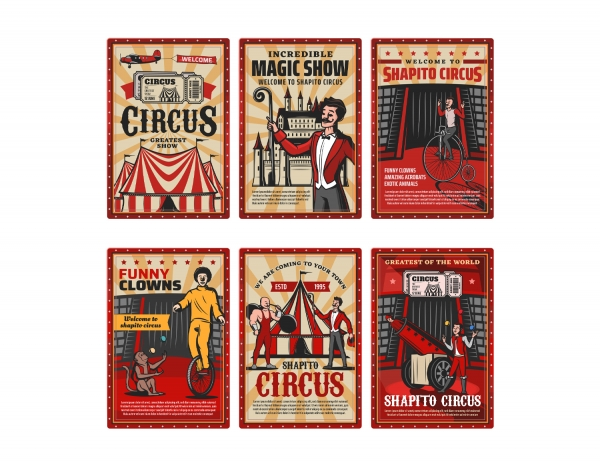 Printable Scrapbooking Vintage Circus Embellishments #2
