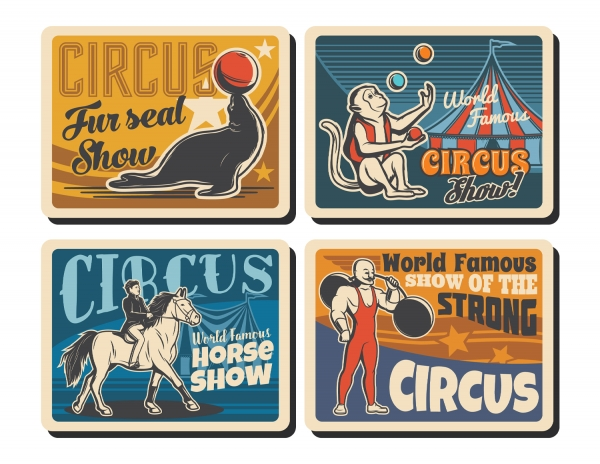 Printable Scrapbooking Vintage Circus Embellishments #4